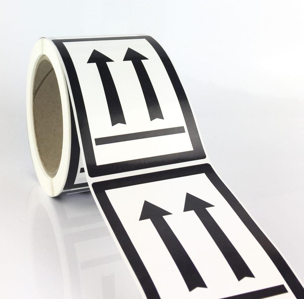 this way up label black