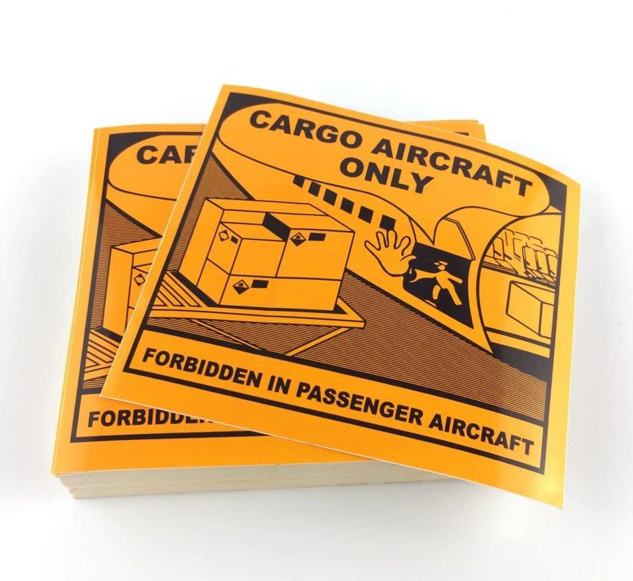 CAO labels cargo labels