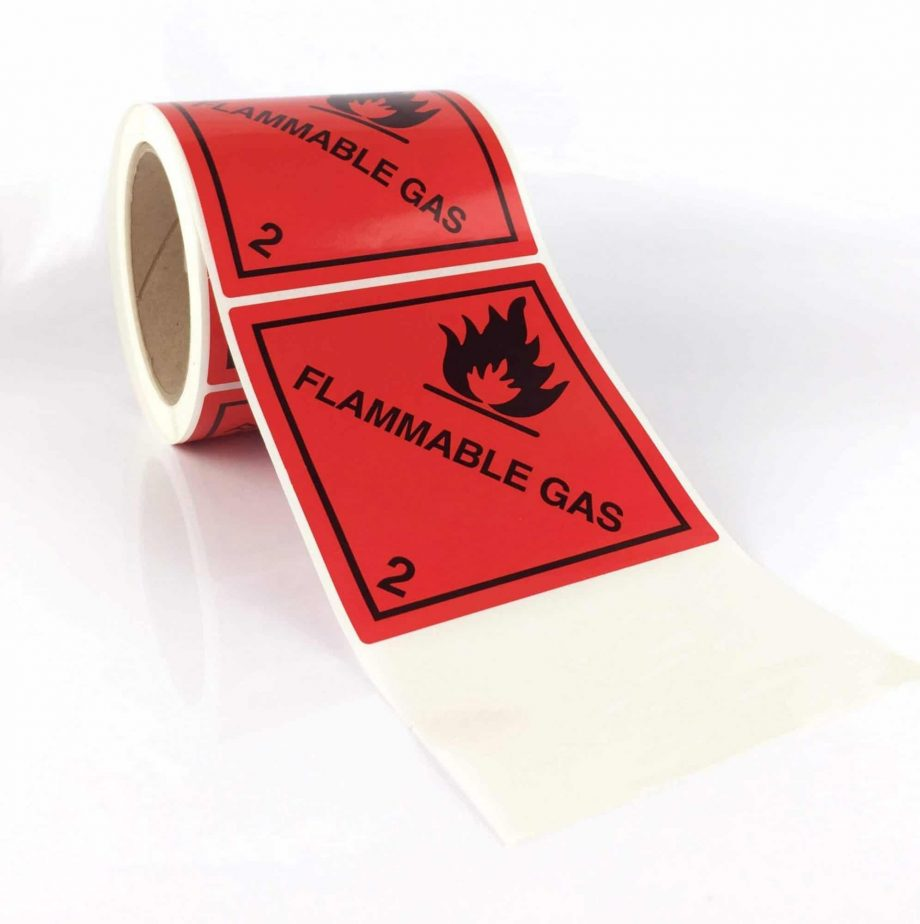 flammable gas labels class 2.1 labels