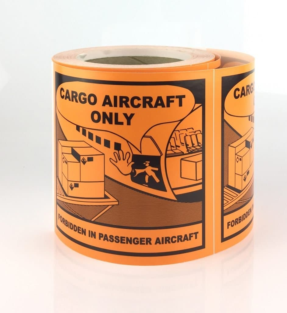 Cargo Labels, Cargo Aircraft Only labels.
