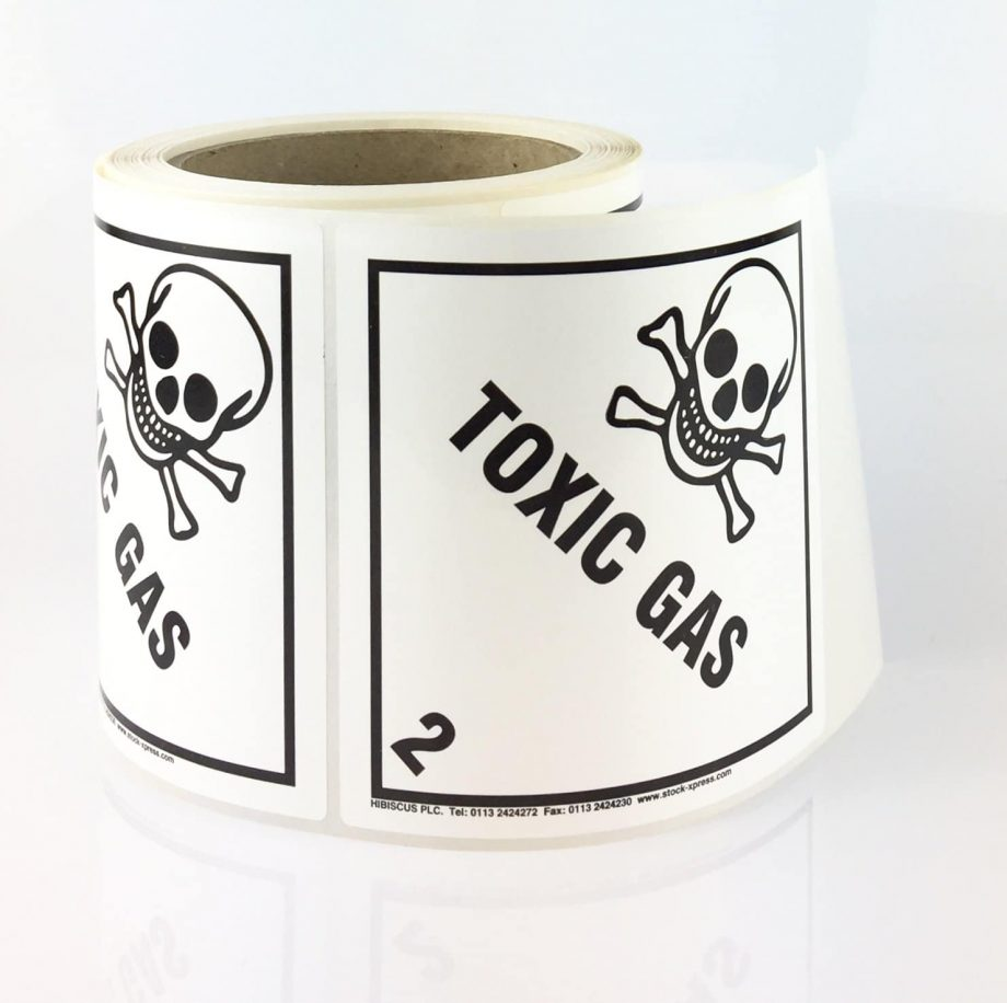 class 2.3 label toxic gas label