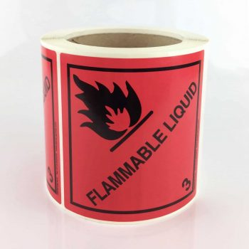 class 3 label, flammable liquid labels