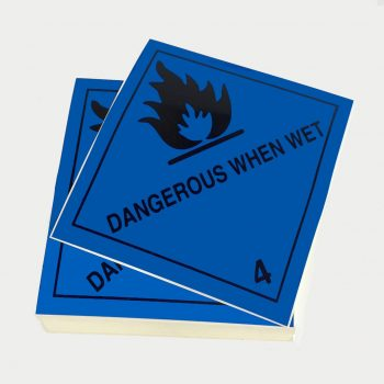 class 4.3 labels dangerous when wet labels singles