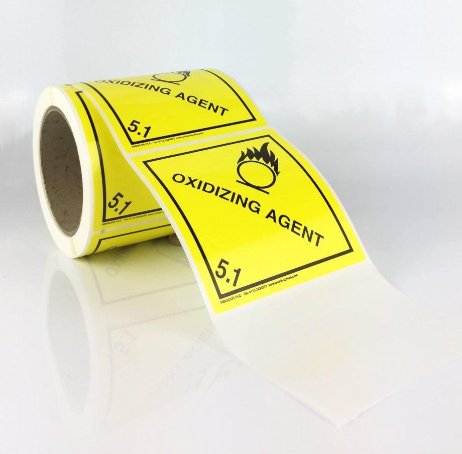 oxidising agent labels 5.1 labels