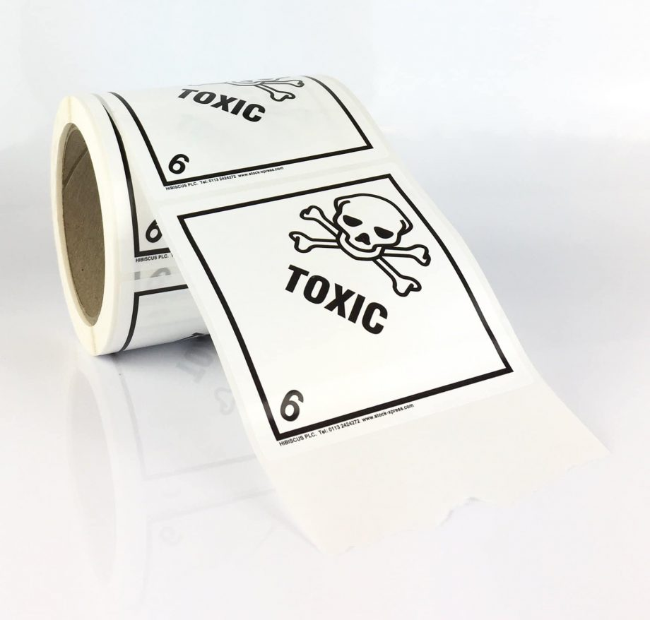 toxic label, 6.1 label, class 6 label