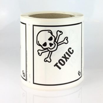 Class 6.1 label, toxic label