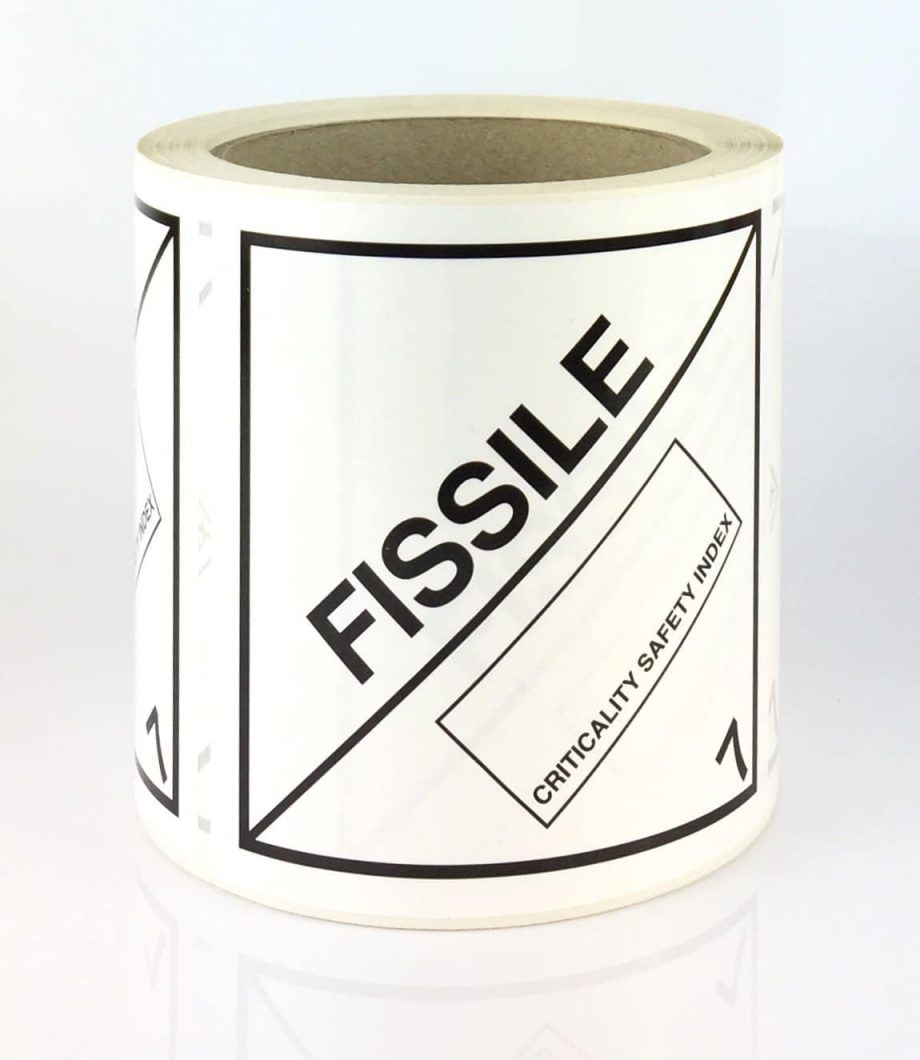 fissile label, radioactive label