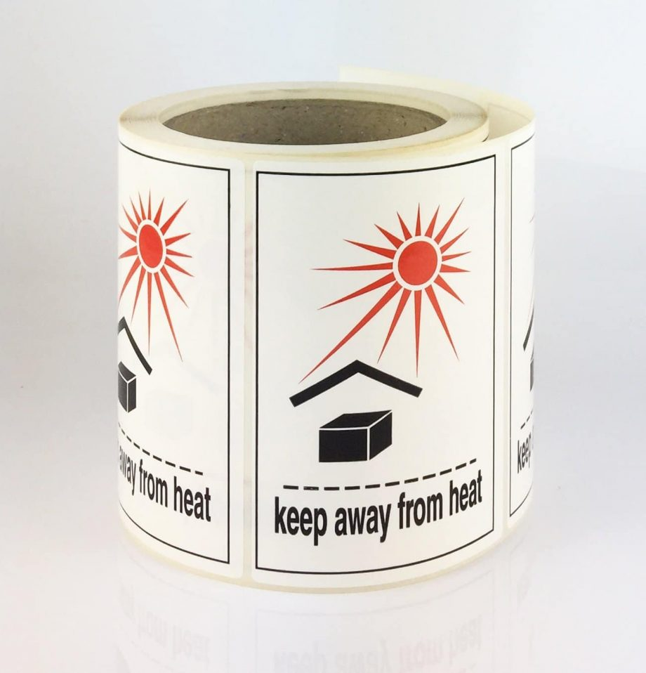 keep away from heat labels / keep away from heat label
