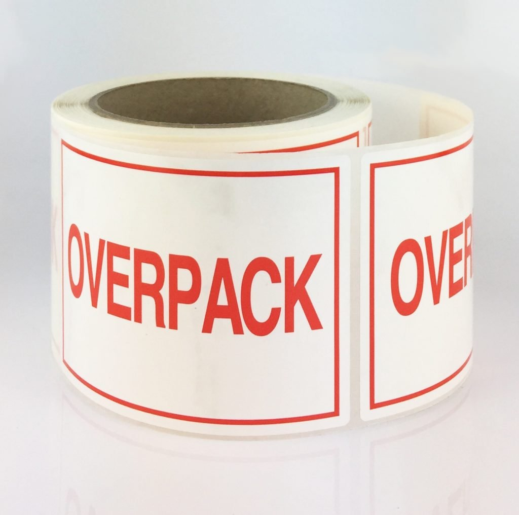 overpack label, overpack labels