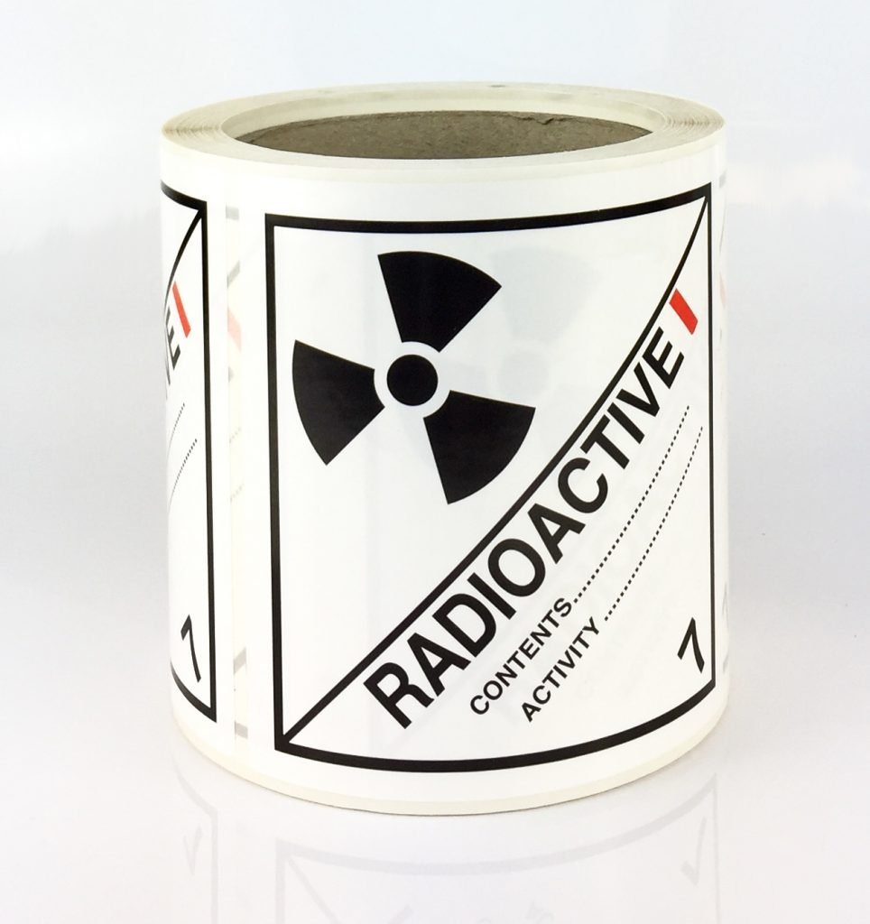 radioactive 1 labels