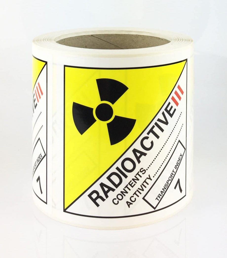 Class 7 labels, radioactive 3 label
