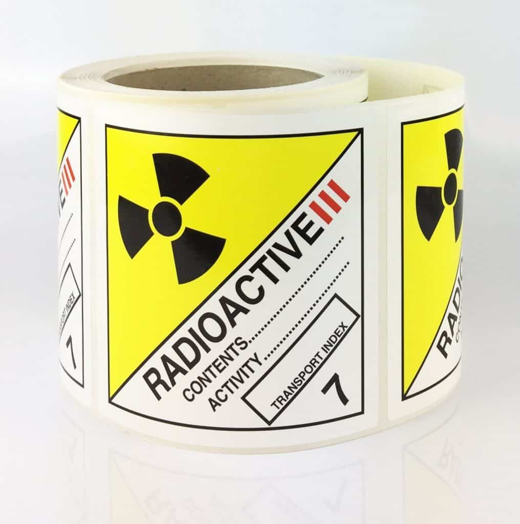 radioactive 3 labels