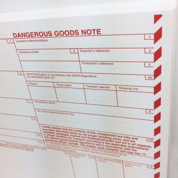 Dangerous Goods Note SITPRO, DGN