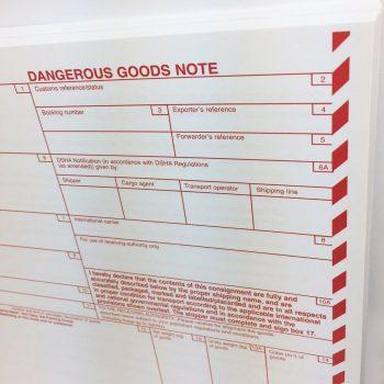 Dangerous Goods Note SITPRO, DGN