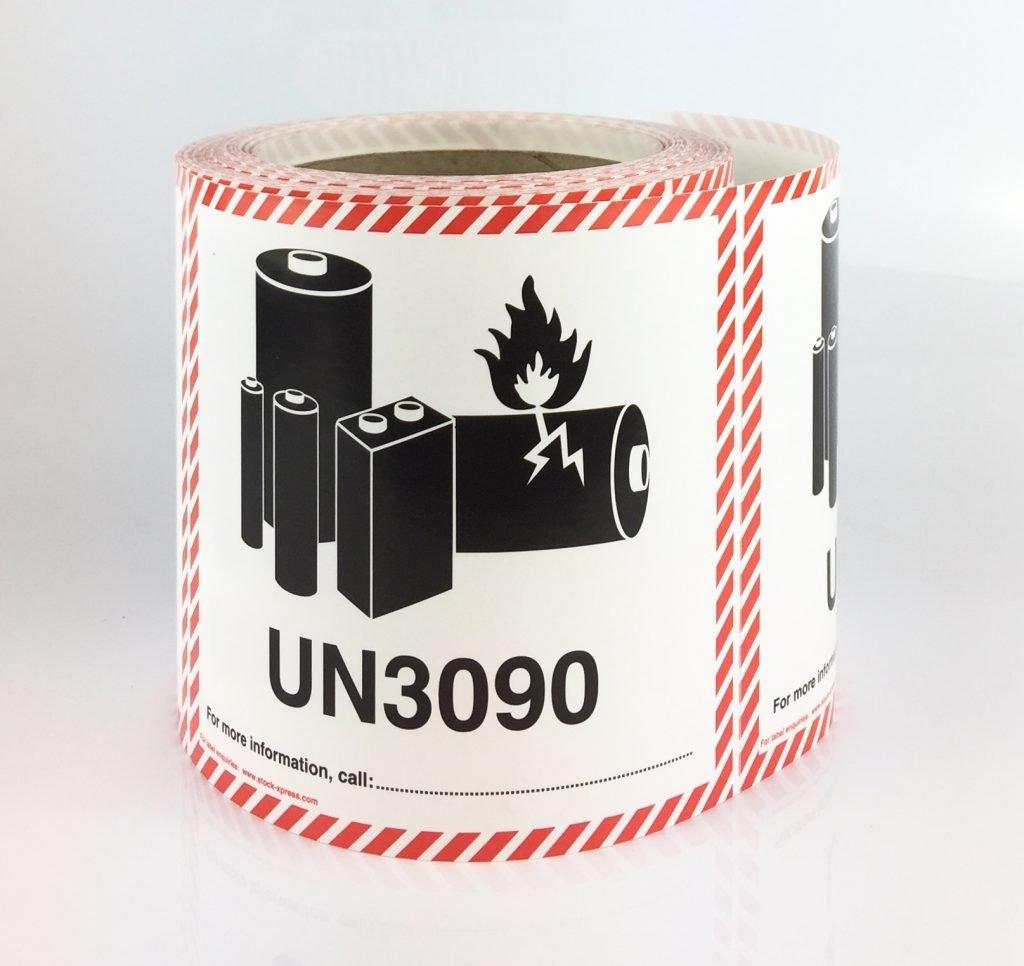 Lithium Battery Labels UN3090