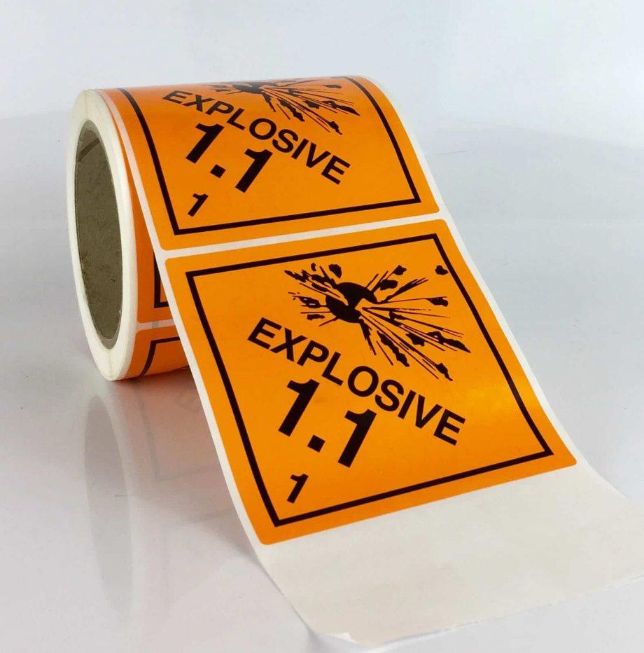 explosive class 1 labels