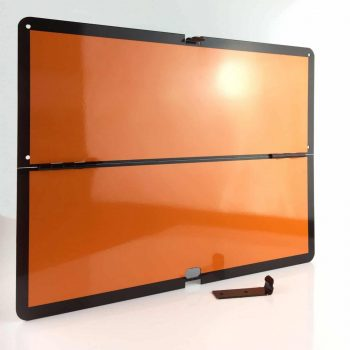 horizontal folding ADR panel, folding ADR plate