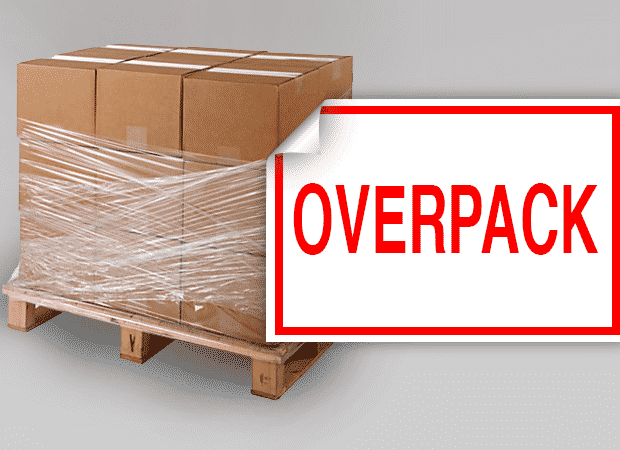 overpack label