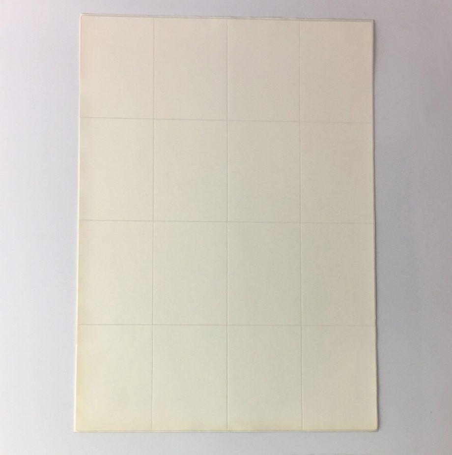 16 per sheet laser labels