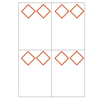 laser sheet label ghs 4 to view 2 diamonds