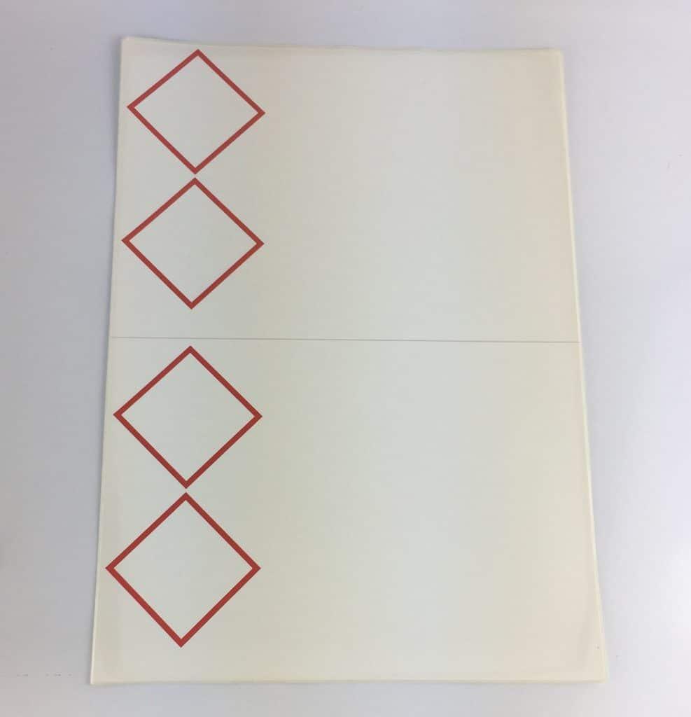 laser sheet labels 2 pictograms