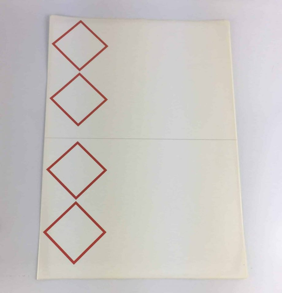 laser sheet labels 2 pictograms