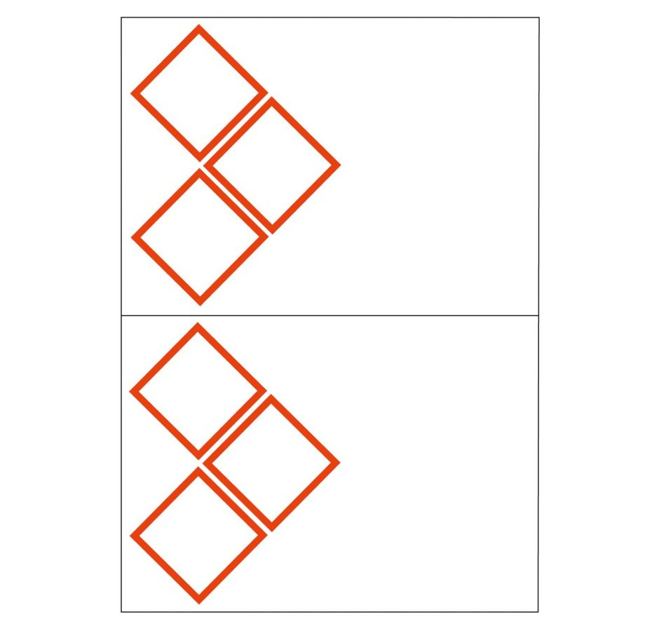 3 ghs pictogram 2 to view laser sheet label