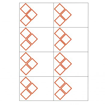 3 ghs pictogram 8 to view laser sheet label