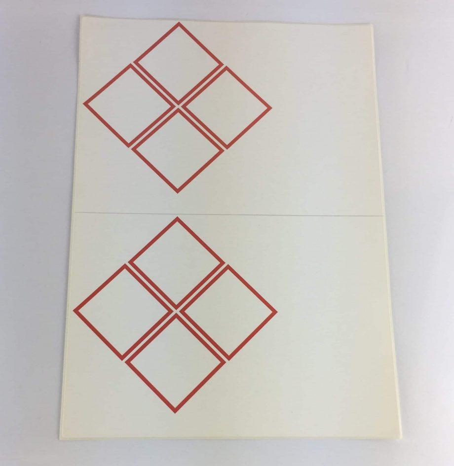 laser sheet labels 4 pictograms