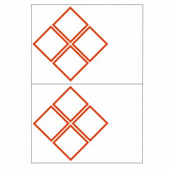 4 ghs pictogram 2 to view laser sheet label