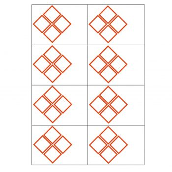 4 ghs pictogram 8 to view laser sheet label