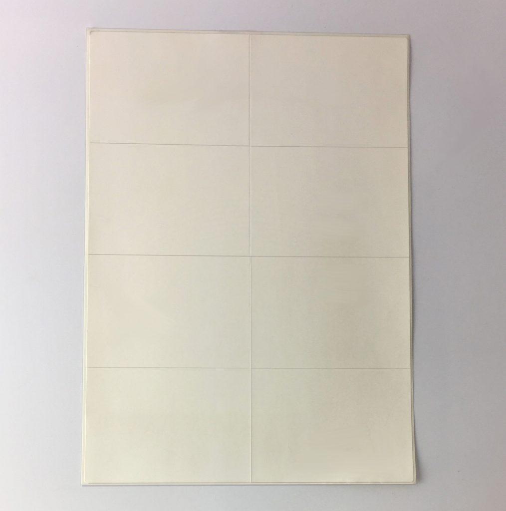 8 per sheet laser sheet labels