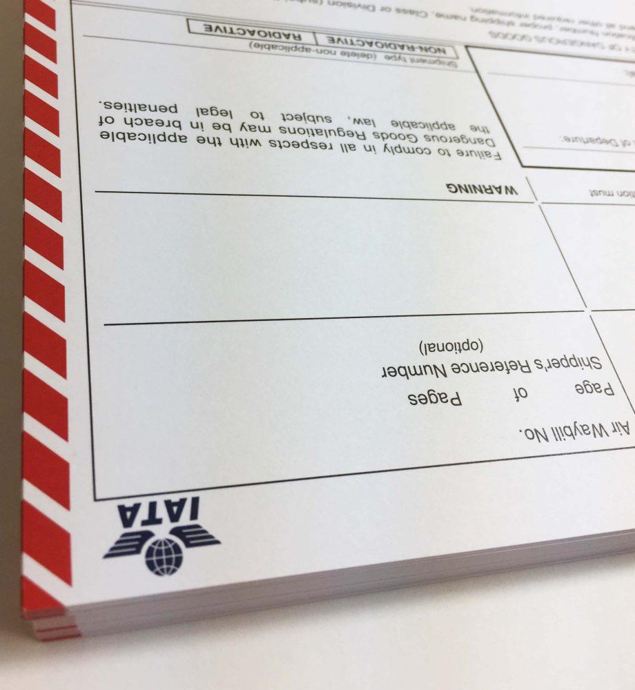 IATA dgn dangerous goods note, dangerous goods declaration