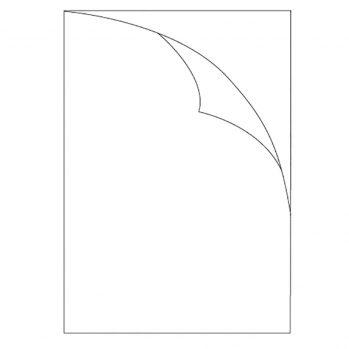 unprinted laser sheet label no tab