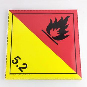 Class 5.2 placard Organic Peroxide Placard