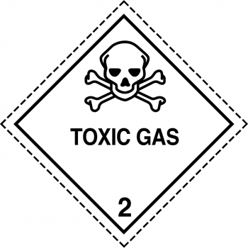 toxic gas label, toxic gas labels