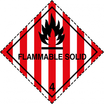 flammable solid labels, class 4.1 labels