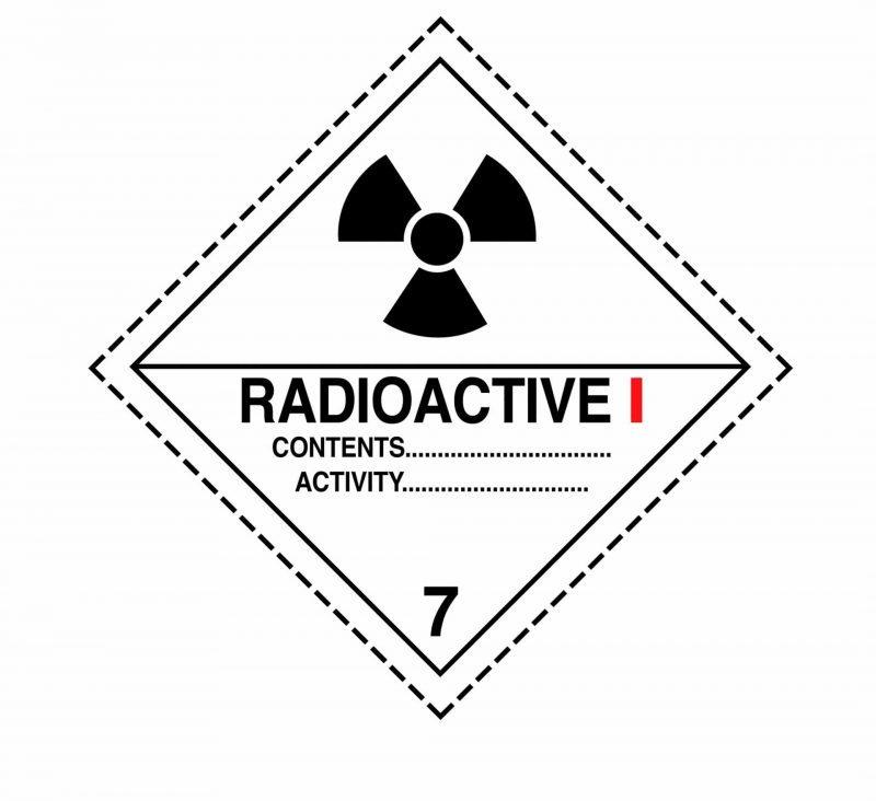 class 7 label, radioactive label