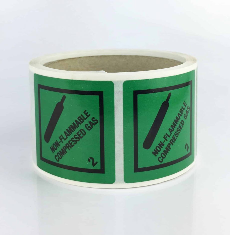 non flammable compressed gas labels class 2.2 labels