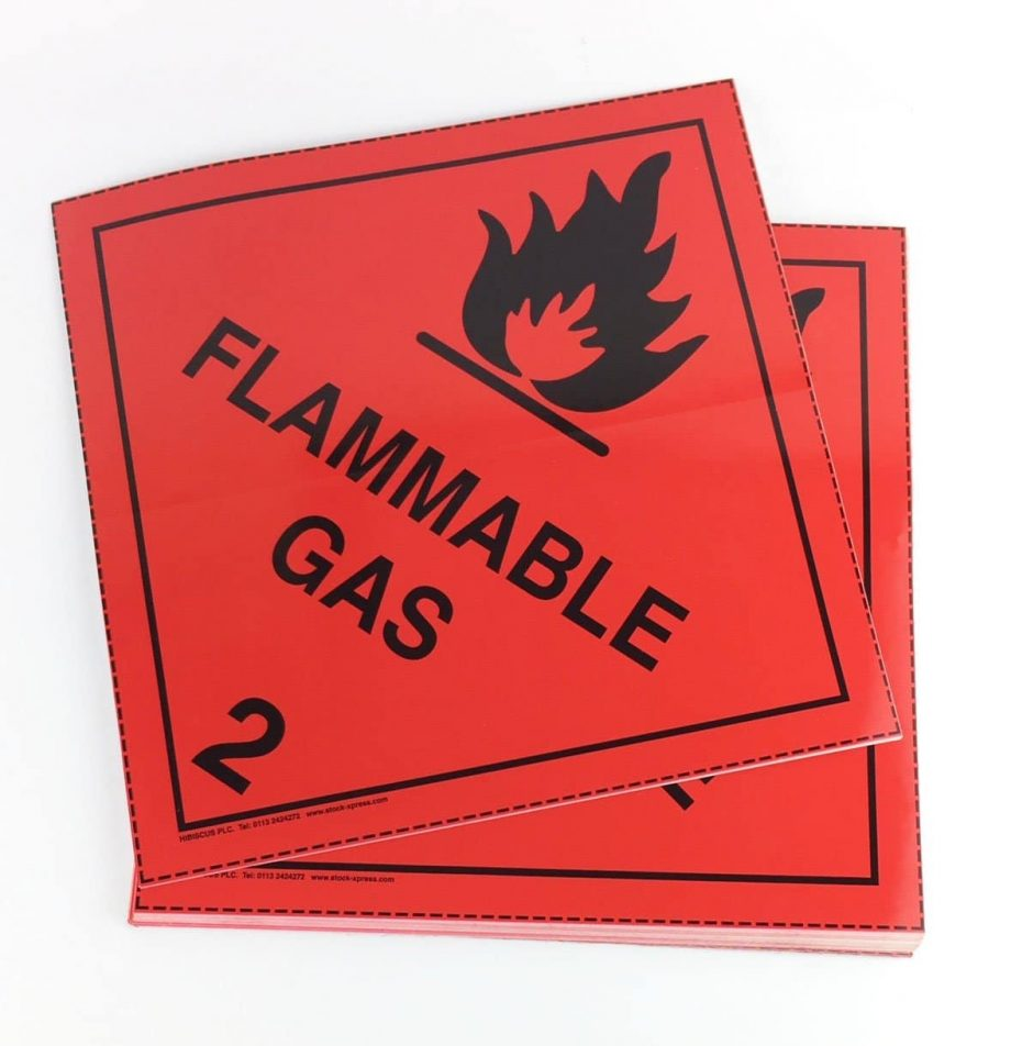 class 2.1 placards flammable gas placards