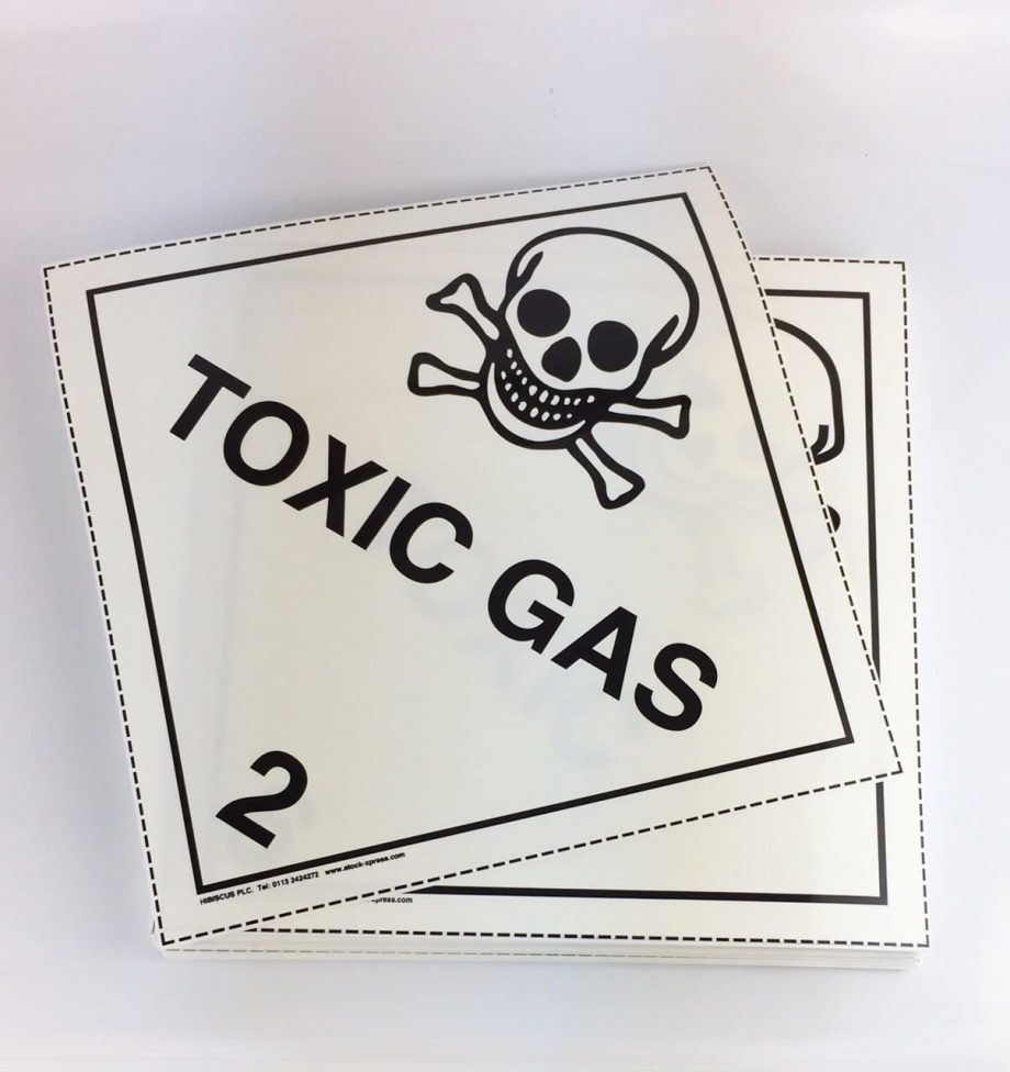 toxic gas placards 6.3 placards