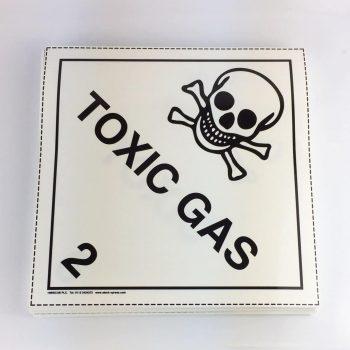 toxic gas placard 6.3 placard