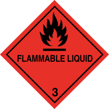 flammable liquid label, class 3 label