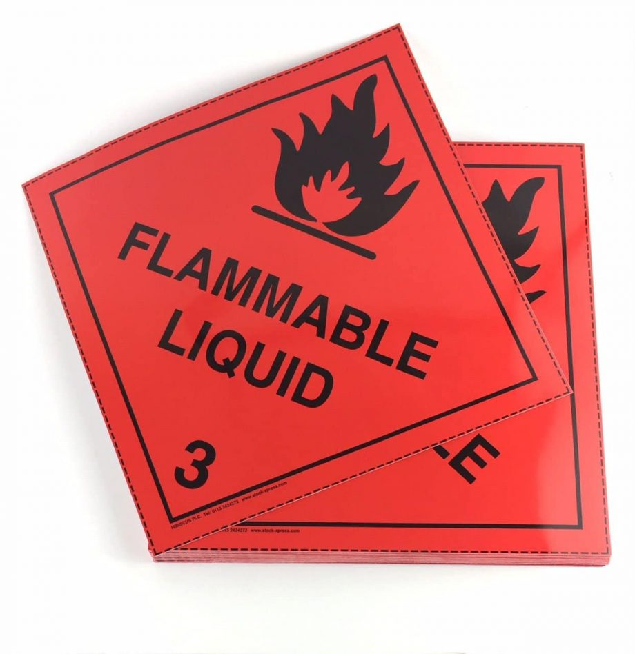 class 3 placards flammable liquid placards