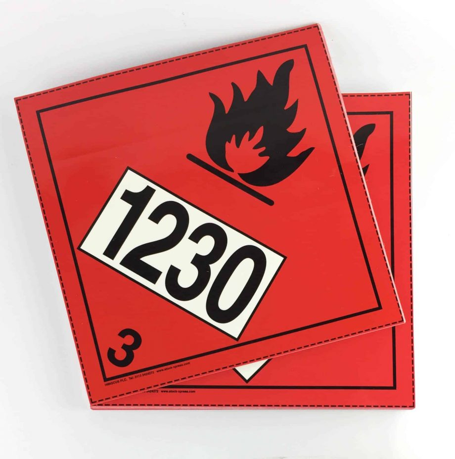 class 3 labels with un1230