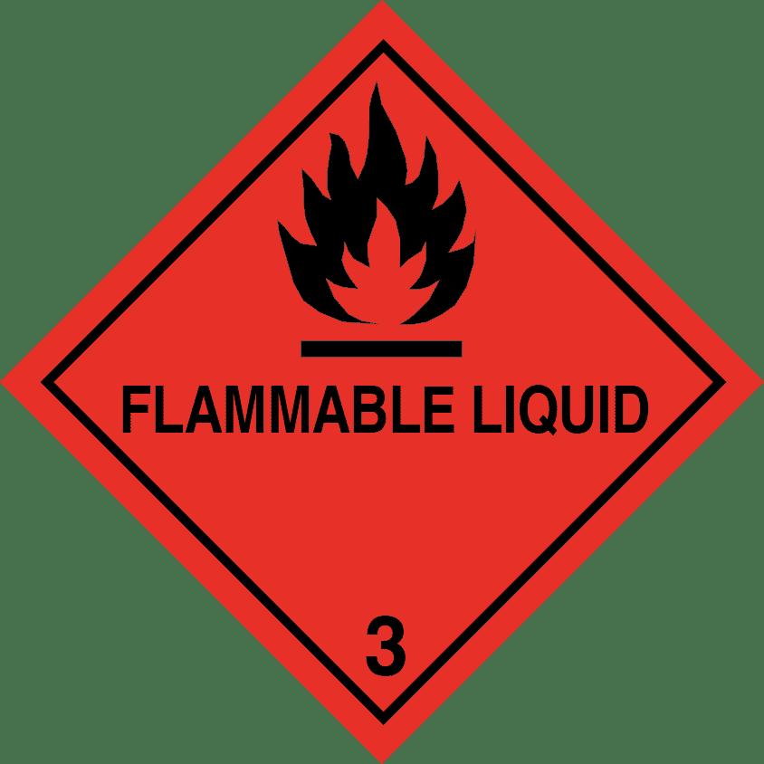 flammable liquid label, class 3 label