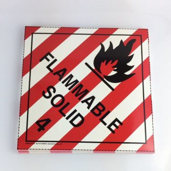 flammable solid placard class 4.1 placard