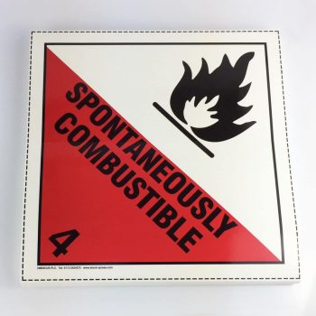 spontaneously combustible placard class 4.1 placard