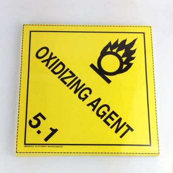 oxidizing agent placard 5.1 placard