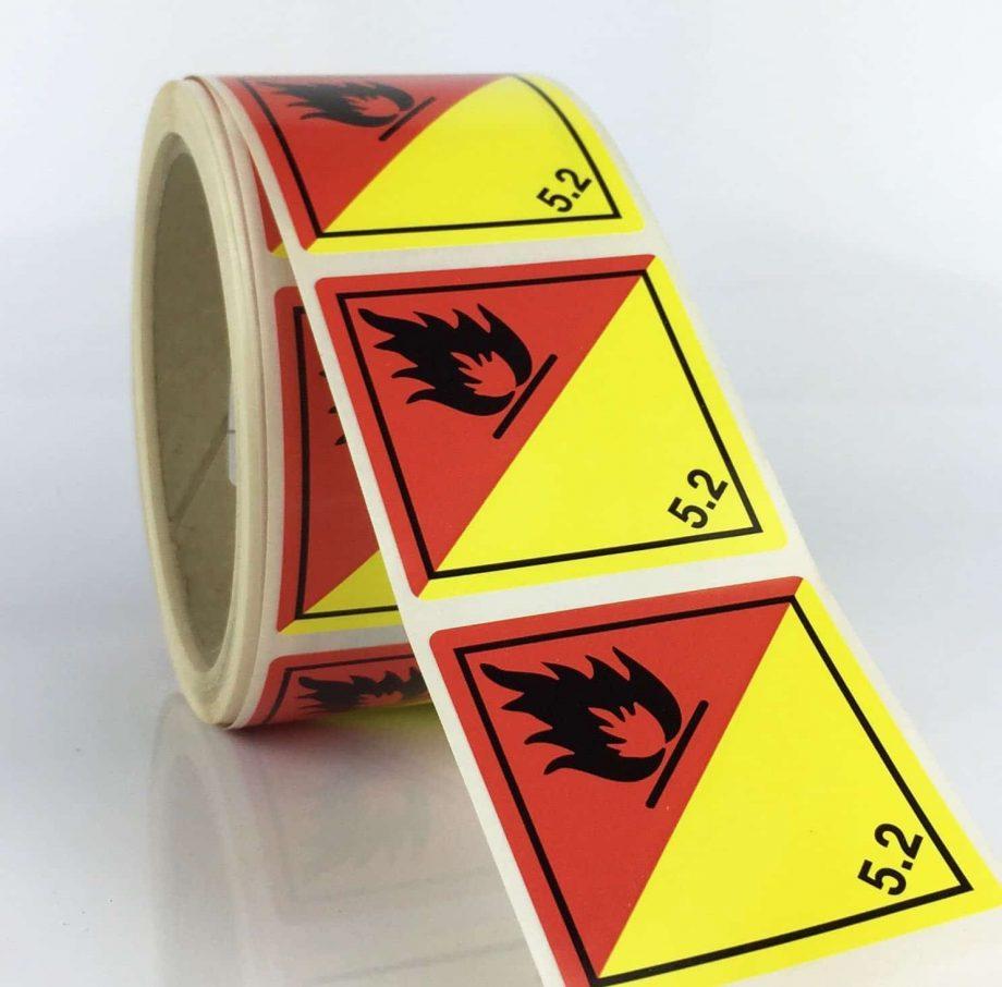 5.2 labels organic peroxide labels